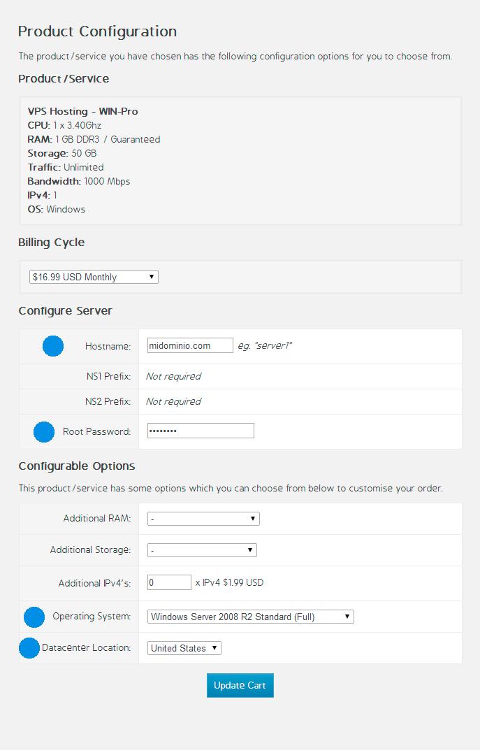 Configuración VPS Bermanhosting