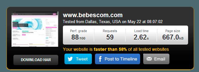 Tiempo de carga bebescom.com