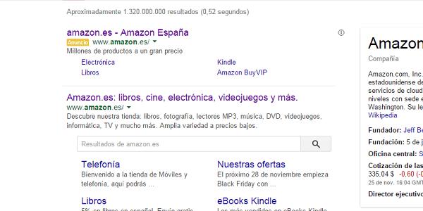 Buscador Sitelinks Google