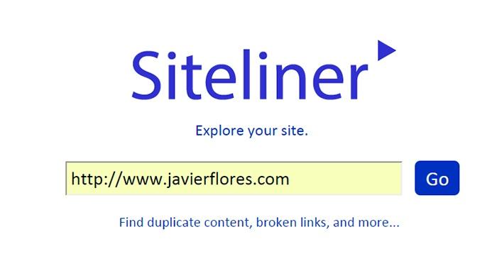 Analiza tu web con siteliner