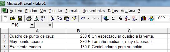 Excel datos