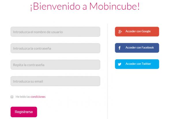 Registro en Mobincube