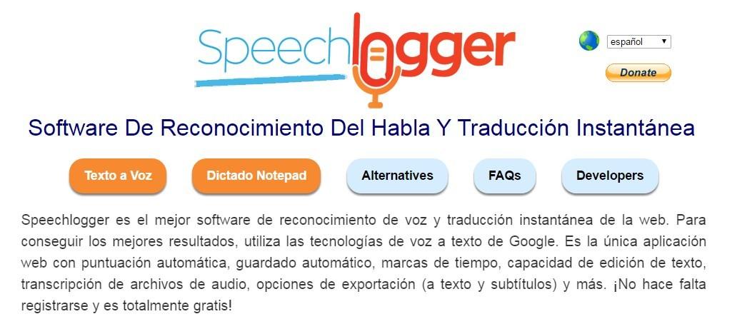 Speechlogger